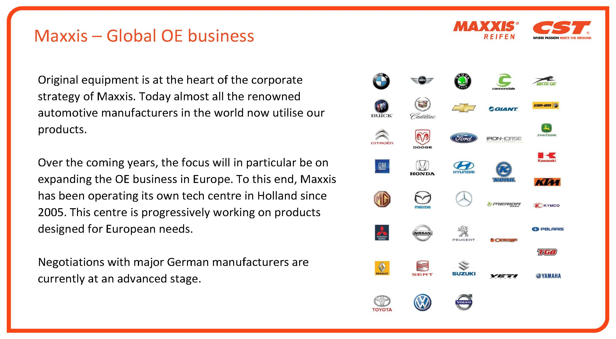 Maxxis Global OE Business Thumb